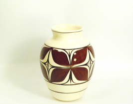 Pohaku Kiln Pottery Small Vase Hawaii 1960's Abstract Brown Design Ivory... - $14.00