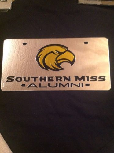 Primary image for USM GOLDEN EAGLES MIRRORED INLAID ACRYLIC AUTO LICENSE PLATE CAR TAG **ALUMNI**