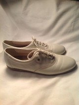 Easy Spirit Leather Lace Up White ANTI-GRAVITY Walking Shoes Sz 6.5B Support - $19.78