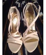New Cupid Beige Women High Heel Shoes Peep Toe Stillettos Platform Sanda... - $18.21