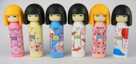Kokeshi Japanese Doll Eraser. Assorted Colors. 6 Pack. By PencilThings - $7.81