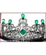 Regal Victorian Style 12.35Ct Rose Cut Diamond Sterling Silver Tiara Cro... - $1,383.00