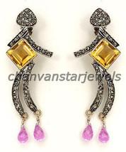 Victorian Inspire Handmade 1.20Ct Rose Cut Diamond 92.5% Sterling Silver... - $298.99
