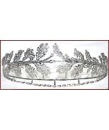 Victorian Vintage Look 12.28Ct Rose Cut Diamond 925 Silver Tiara Crown C... - $990.00