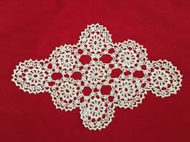 "White 8.5X13"" Crochet Doilie - $8.78"