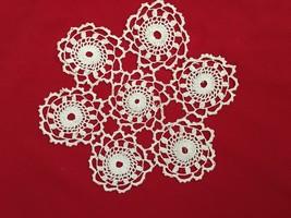 """White 9.5"""" Round Starburst Crochet Doilie - $8.78"""