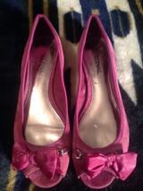 Alfani Whitby Womens Size 6.5 M Purple Suede Flats Shoes- Open Toe Bow/C... - $19.99
