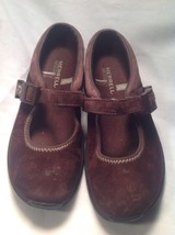 Merrell Brown Suede Ortholite Q Form Air Cushion Mary Jane Mules SZ 5.5M image 1