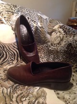 Nine West Ladies Dark Brown Leather Loafers SZ 7.5M Darwin Slip On Loafe... - $21.03
