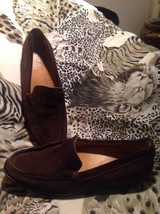 TODS BROWN SUEDE DRIVING LOAFERS FLATS HEELS, CHIC & UNIQUE SIZE 39.5M M... - $42.07