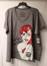 NEW WOMENS PLUS SIZE 4X 4XL GRAY ARIEL LITTLE MERMAID WET HAIR DONT CARE... - $19.33