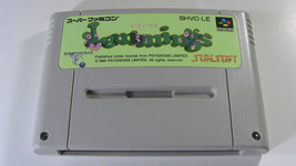 Lemmings (Nintendo Super Famicom SNES SFC, 1991) Japan Import - $12.90