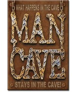 Refrigerator Magnet What Happens in the Man Cave Stays in the Man Cave - $3.25