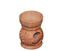 "Elegant Yin Yang Soap Stone Oil Diffuser 3.5"" - $12.73"