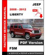 JEEP LIBERTY 2008 2009 2010 2011 2012 WORKSHOP SERVICE REPAIR SHOP FSM M... - $14.95