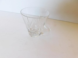 Fern design handled shooter glass mint condition - $4.49