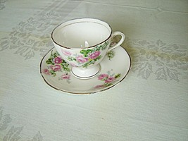Royal Stafford 1799 pink Rose cup and saucer - $11.69