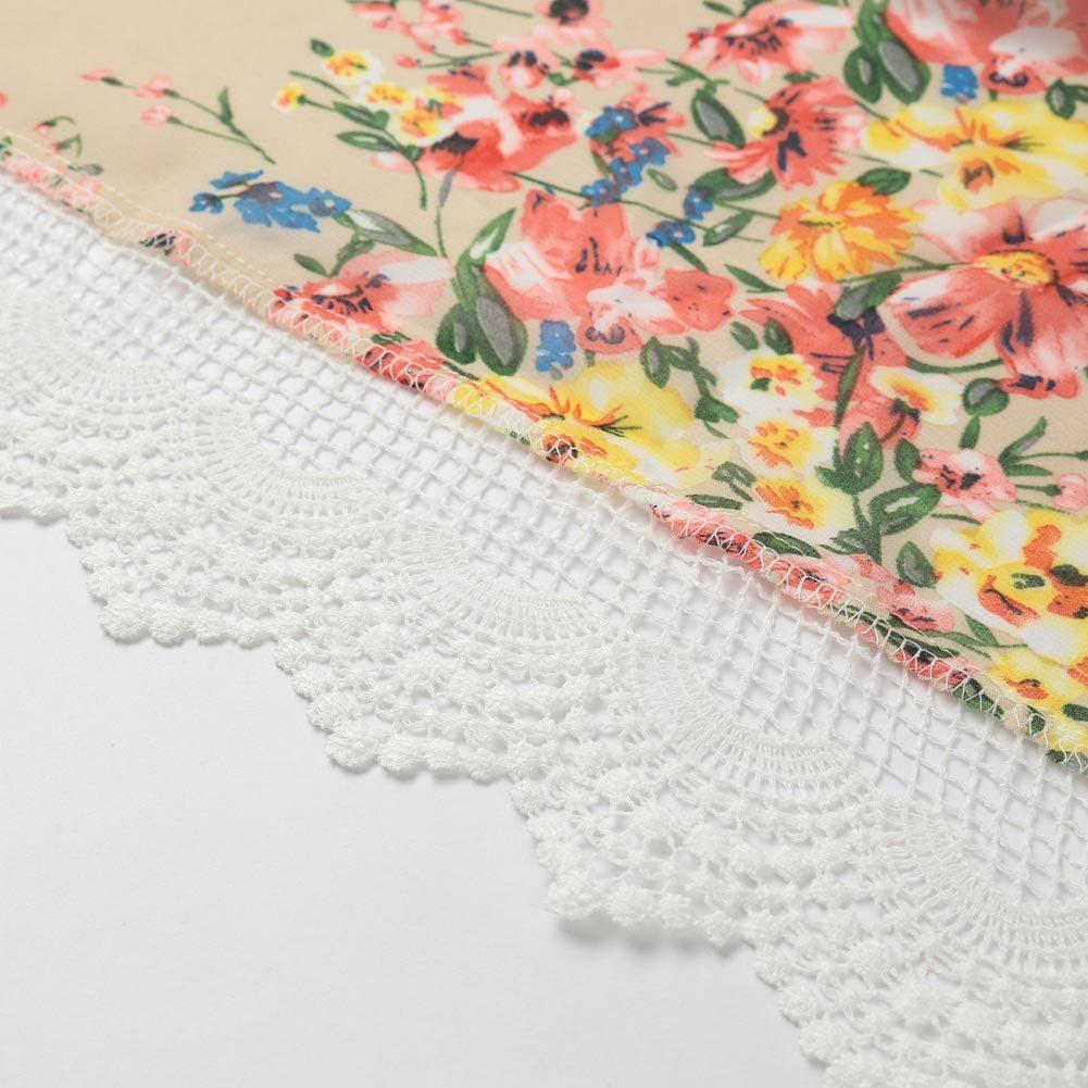 2017 Vintage Women Bohemia Blouses Loose Chiffon Kimono Cardigan Floral Lace Hem