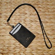 Coach Signature Lanyard Badge PVC Case Brown & Black