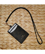 Coach Signature Lanyard Badge PVC Case Brown & Black - $32.95