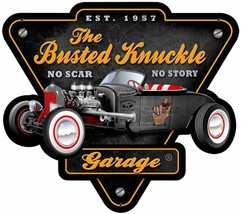 Busted Knuckle-Rat Rod-Plasma Cut Metal Sign - $45.00
