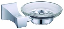 Chrome  clour bathroom brass and glass soap hol... - $45.53