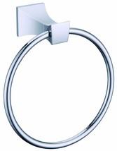 Chrome clour Bathroom brass towel ring Square  - $39.59