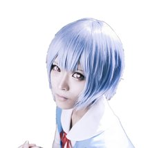Neon Genesis Evangelion AYANAMI REI cosplay costume wig - $33.55