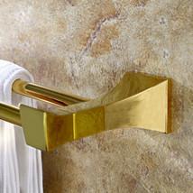 """Gold clour bathroom brass double towel bar square design 23.8""""Length  - $74.25"""