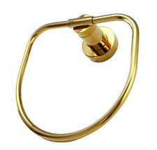 Gold clour Bathroom brass towel ring Round  - $39.59
