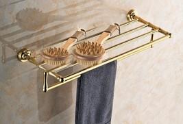 Gold clour bathroom brass towel racks modern Round design B - $138.59