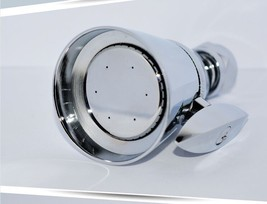 "Adjustable Solid brass Shower head in Chrome 2.12""Diameter Free ship - $49.49"
