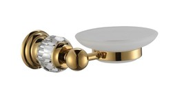 Gold clour bathroom Crystal brass and glass soap dishes  - $49.49