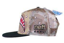 Neff Men's Desert Storm Camo Thunderbolt Mesh Snapback Baseball Hat Cap NWT image 5