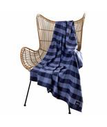 """Pendleton Rob Roy Luxe 100% Polyester 50""""x70"""" Throw Blanket Blue Plaid NWT - $34.64"""