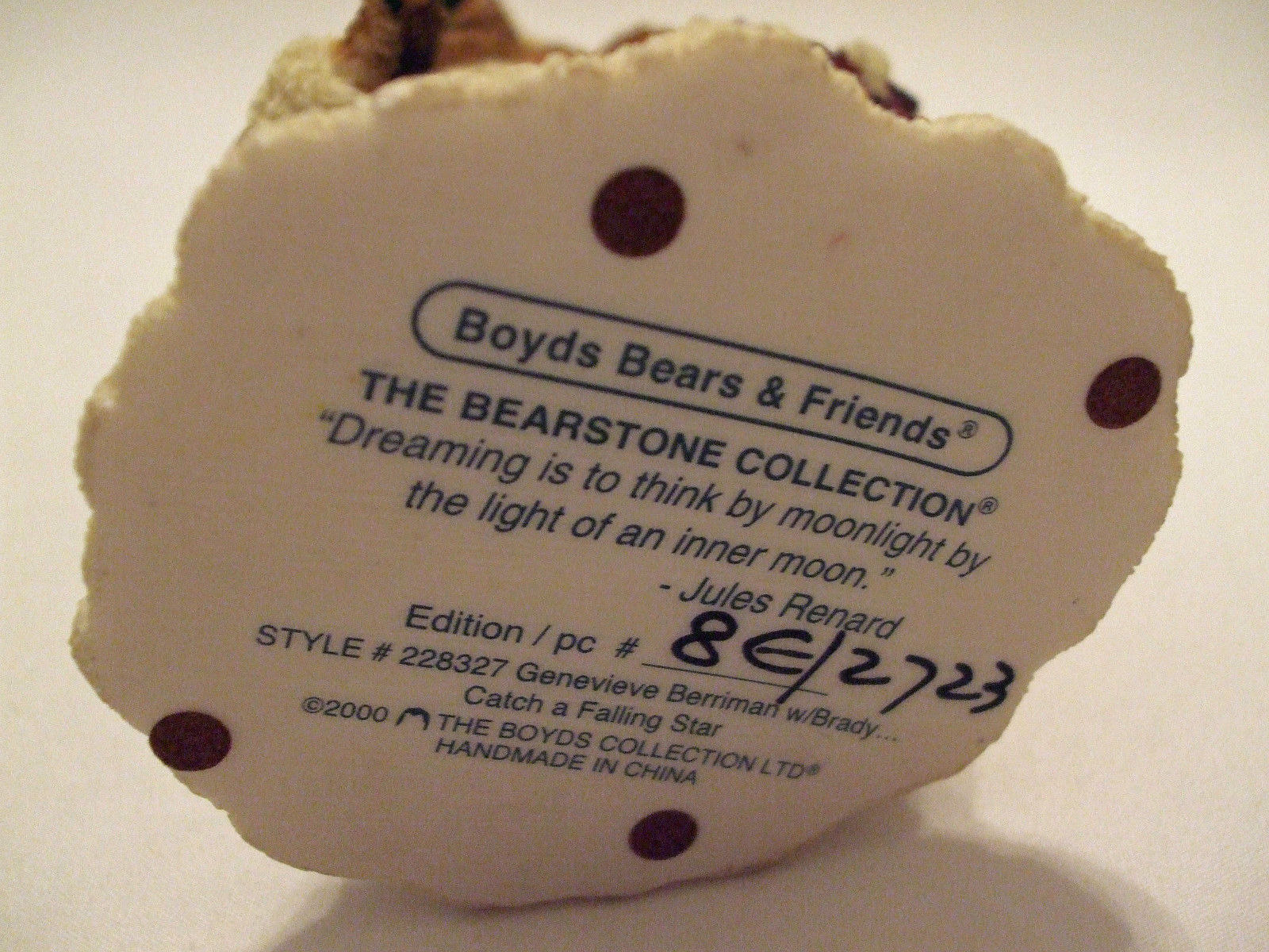 "Boyds ""BEARS & FRIENDS"" The Bearstone Collection - Style #228327"