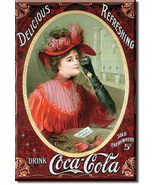 Refrigerator Magnet Drink Coca-Cola Delicious Refreshing - $3.25