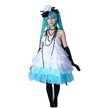VOCALOID Lolita MIKU cosplay costume Set Cocktail cosplay costume dress - $130.67