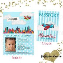 Airplane boarding pass Passport Birthday Baby Shower Invitation Personal... - $1.45