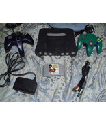 Nintendo 64 Charcoal Grey Console (NTSC) with r... - $79.19