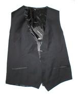 New NWT Mens 38 Vest Designer Italy Dolce & Gabbana Wool Silk Black 48 Nice - $290.25