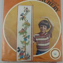 Growth Chart Embroidery Kit Paragon Disney Mickey Donald Minnie Wall Han... - $17.95