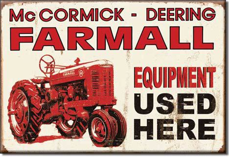 Refrigerator Magnet Farmall Equipment Used Here McCormick-Deering