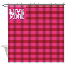 Love Pink Victoria Secret Custom Design Bathroom Shower Curtain - $37.99+