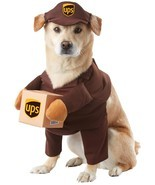 UPS Postal Service Pet | Dog Costume , Medium - Free Shipping - $386,58 MXN