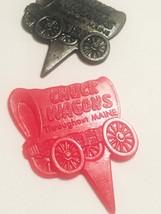 Vintage 60s Chuck Wagons plastic Steak Marker Picks (set of 2) image 2