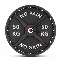 50KG Barbell Dumbbell Wall Clock Weight Lifting Load Bodybuilding Gym Decor - $44.76