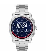 Michael Kors MKT5025 Access Silver Touch Screen Grayson Smart Watch 47MM... - $199.99