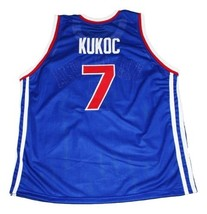 Toni Kukoc #7 Jugoslavija Yugoslavia Basketball Jersey New Sewn Blue Any Size image 5