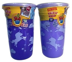 (2) Nuby 360 Wonder Cup No Spill Active Sipeez Easy Sips From Any Side 10oz - $14.98